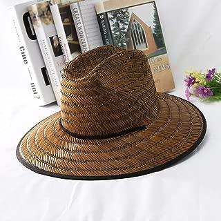 Lei Zhang 2019 Women Summer Wide Brim Straw Sun Hat Dome Hat Outdoor Sun Hat Straw Lifeguard Hat Size 56-58CM
