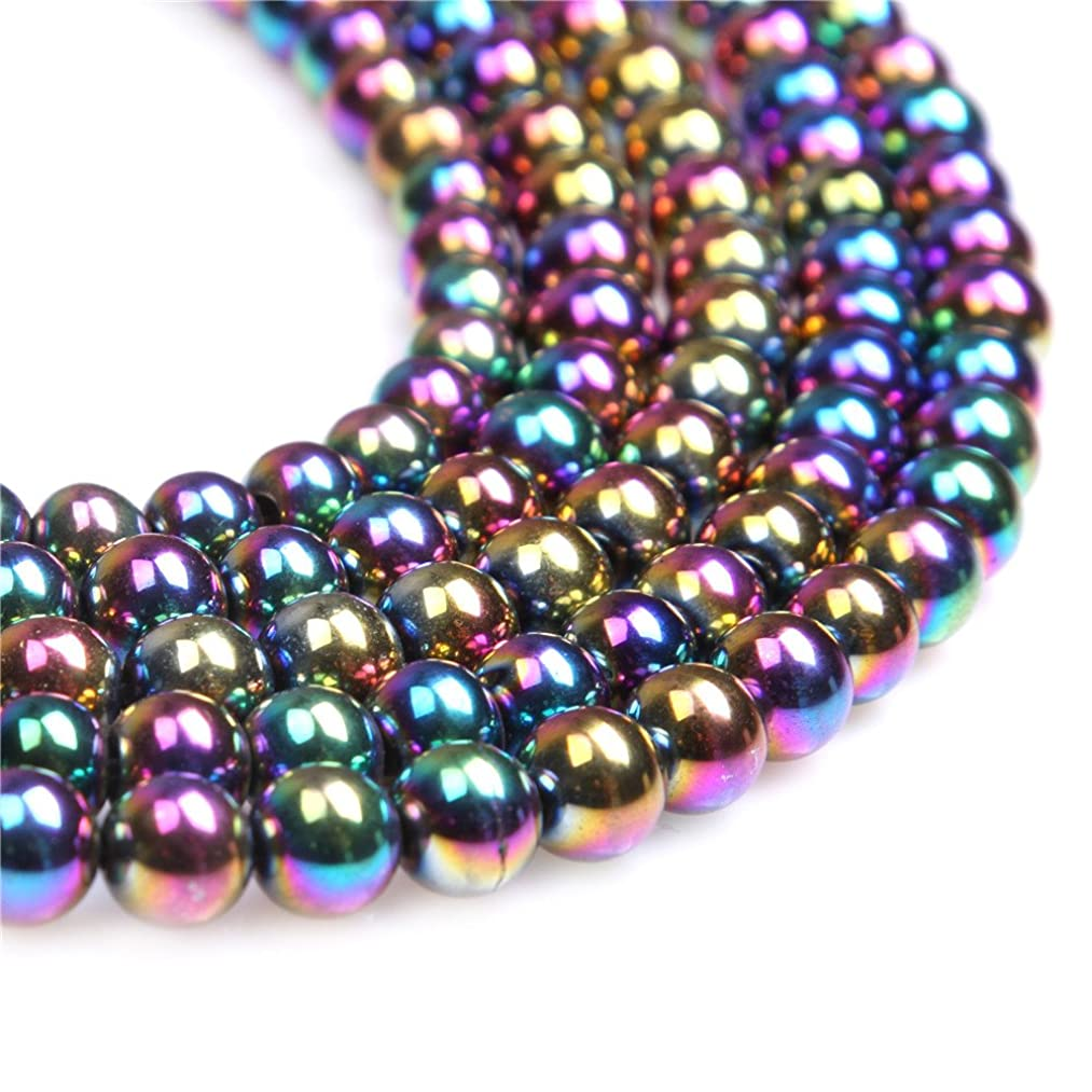 8mm Round Multicolored Hematite Gemstone Beads for DIY Jewelry Making 15