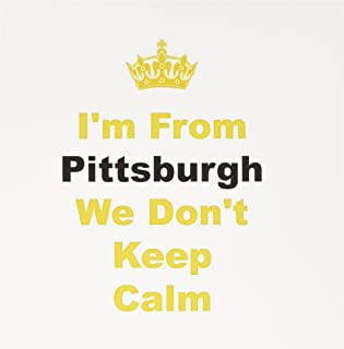 3dRose Don't Keep Calm Pittsburgh Yellow and Black Letters on White Background Greeting Cards, Set of 6 (gc_180044_1)