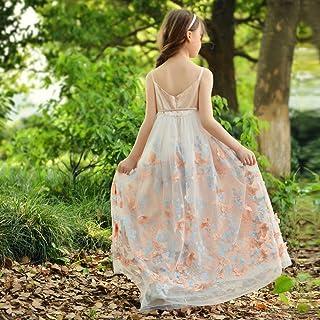 子供ドレス フォーマル キッズドレス ロング プリンセス 刺繍 入園式 発表会 パーティー 結婚式 ドレス 七五三