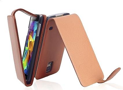 Cadorabo Coque pour Samsung Galaxy S5 / S5 Neo en Noisette Marron ...
