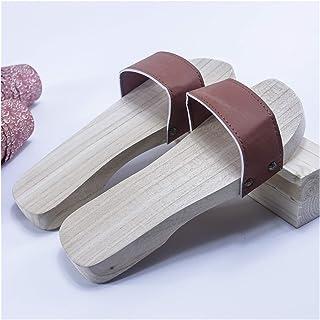 ZCPCS Zapatos de Madera Retro de Verano Tradicionales Hechos a Mano de Madera sin Madera, Zapatillas de Madera (Color : 09...