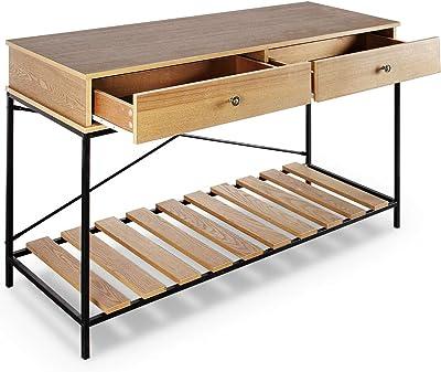 Amazon Com Baxton Studio Newcastle Wood And Metal Criss