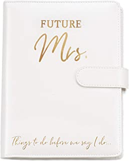 $34 » Wedding Planner Book and Organizer for The Bride -Faux Leather, Gold foil Stamped 'Future Mrs' Wedding Binder I Bride to B...