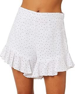 Mlm Label Women's Jett Ruffle Linen Short Fitted White