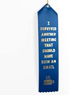 I Survived Another Meeting That Should Have Been An Email Award Ribbon