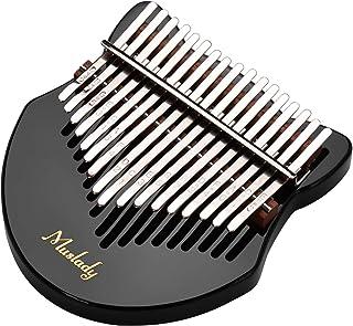 مادة أكريليك إبهام بيانو كاليمبا على شكل ثعلب لطيف مع حقيبة حمل ملصقات مذكرات موسيقية ضبط مطرقة تنظيف كتاب موسيقى ، أسود