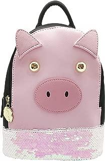 Betsey Johnson Peppa Pixie Winged Piggy Mini Backpack-Festival, school