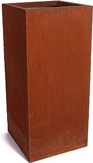 Veradek Metallic Series Corten Steel Short Pedestal Planter, 30-Inch Height by 13.5-Inch Width, Rust (PEDVSHCS)