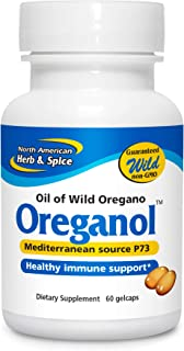 North American Herb & Spice Oreganol P73-60 Gelcaps - Immune System Support - Unprocessed, Vegan Friendly Wild Oregano - M...
