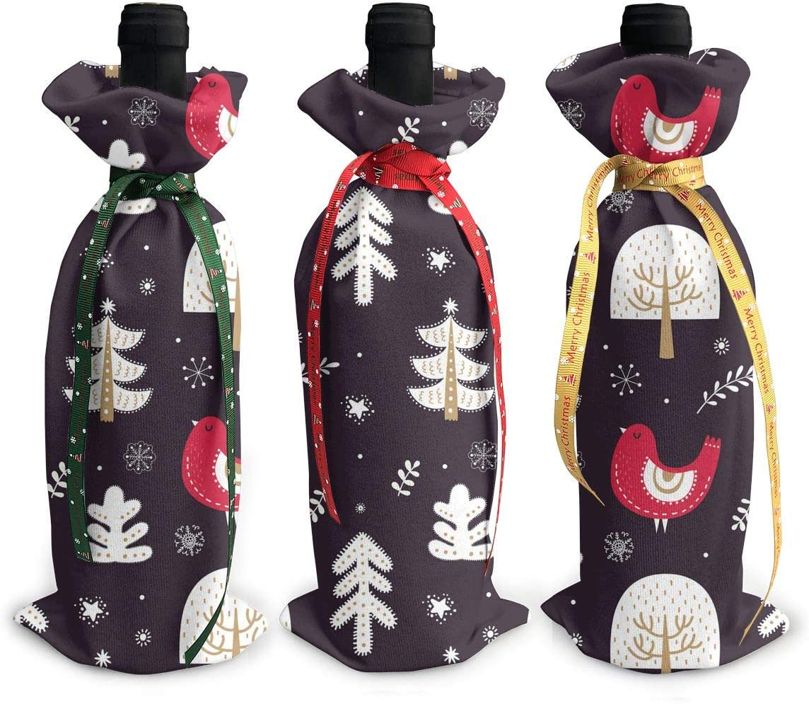 Cute Christmas Ball Elk Reindeer3Pcs Xmas Wine Red Gla High material Cheap mail order specialty store