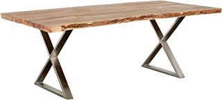 Primo International Loomie Dining, Table, Natural/Silver