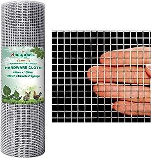 Amagabeli 48x100 1/2Inch Hardware Cloth Galvanized Welded Cage 19 Gauge Chicken Wire Mesh Fence Garden Plant