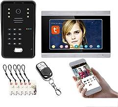 Tuya Wifi Video Deurbel, Nachtzicht Camera + Monitor, 7 Inch Video Deurtelefoon Systeem, Intercom, Wachtwoord Remote APP U...