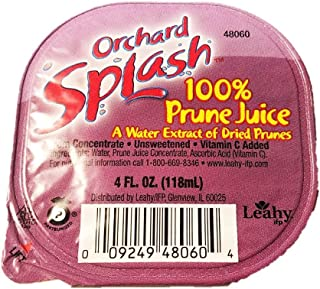 Orchard Splash 4oz Portion Control Juice Cups, Prune 100% (Case of 48)
