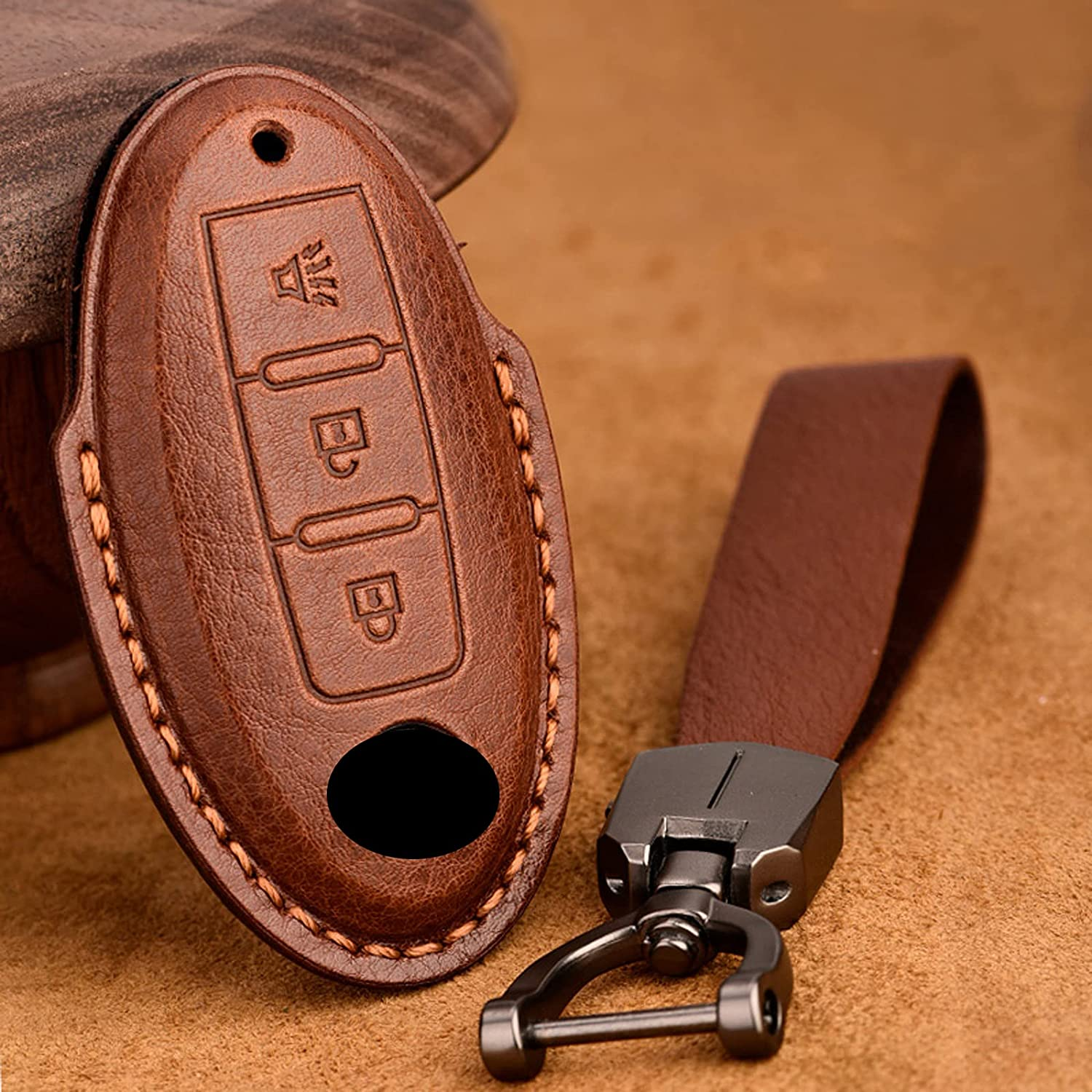 NUIOsdz Leather Smart Key Fob Cover J10 Jacksonville Mall J Fit for New sales Qashqai Nissan