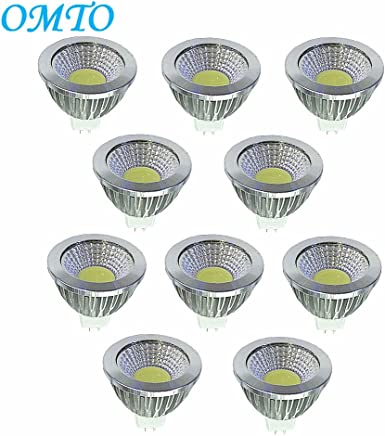 OMTO MR16 COB 12V 4W LED Bulbs White 6000K LED Spotlights -35Watt Equivalent - 350