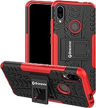 Bracevor Hybrid Back Cover Kickstand Case for Xiaomi Redmi Note 7 | Redmi Note 7 Pro | Redmi Note 7S - Red | Rugged Defender