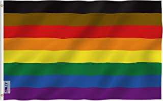 Best Anley Fly Breeze 3x5 Foot Philadelphia Rainbow Flag (8 Stripes) - Vivid Color and Fade Proof - Canvas Header and Double Stitched - Gay Pride Banner Flags Polyester with Brass Grommets Review
