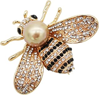 Honey Bee Brooch for Women - 3 Colors Insect Themes with Gold,Silver and Colorful Tone Brooch Pins - Fashion Mother of Pearl Brooch Pins - Great for Wife,Sisters,Friends,Daily Wear or Dating