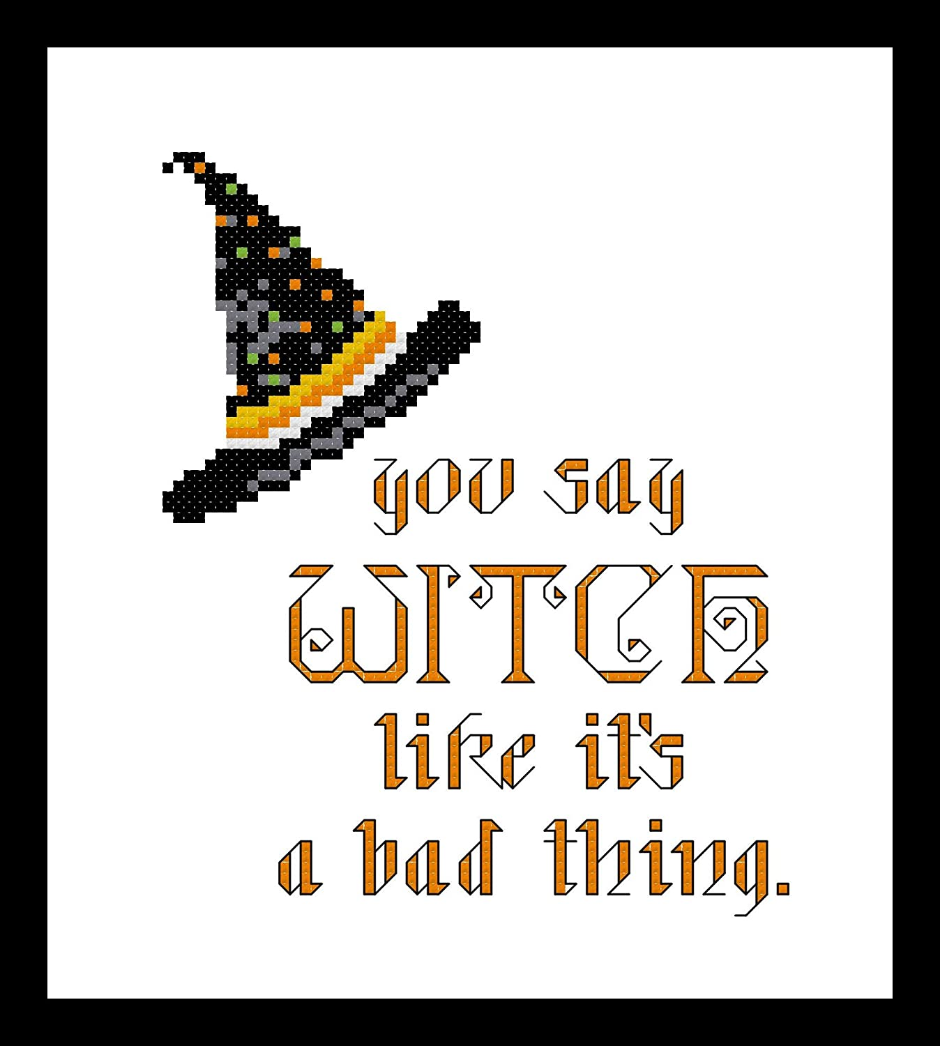 Counted Cross Stitch Brand Cheap Sale Venue Pattern. 1 year warranty You say its witch like thing a bad