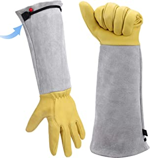 Long Gardening Gloves Women/Men Cowhide Leather Gauntlet Thorn Proof Cactus Rose Pruning Protective Gloves Garden Gift …