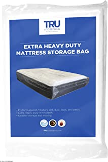 TRU Lite Mattress Storage Bag - Mattress Bag for Moving - Heavy Duty Extra Thick 4 Mil Plastic - Fits Standard, Extra Long, Pillow Top Sizes - Full Size