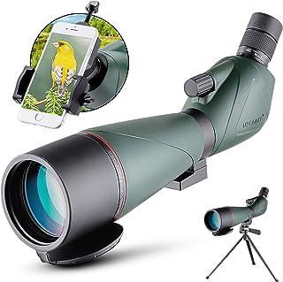 Image of 20-60x80mm Spotting Scope with Tripod Waterproof BAK4 Eyepiece Telescope for Target Shooting Bird Watching Hunting Archery Range Outdoor