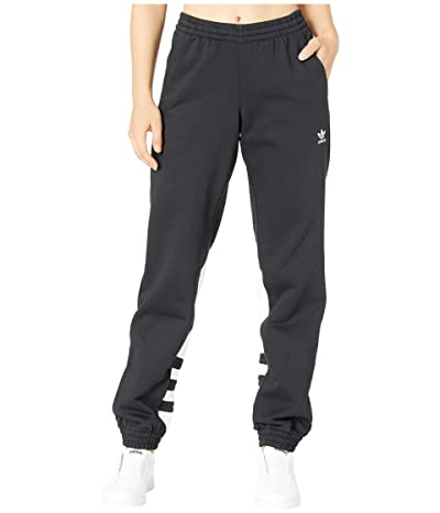 adidas Originals Large Logo Sweatpants (Black/White) Women