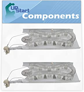 2-Pack 3387747 Dryer Heating Element Replacement for Maytag MEDC700VW0 Dryer - Compatible with 3387747 Heater Element - UpStart Components Brand