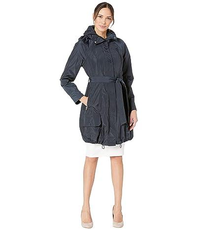 Marc New York by Andrew Marc Navarre Bubble Trench Coat w/ Hood (Navy) Women