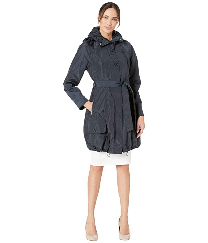 Marc New York by Andrew Marc Navarre Bubble Trench Coat w/ Hood (Navy) Women