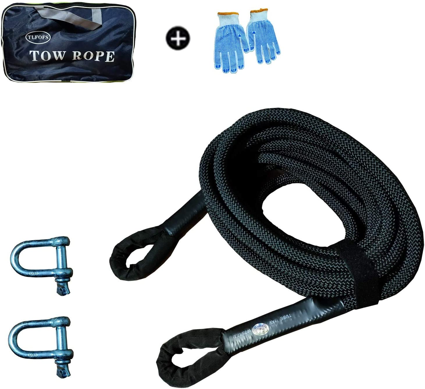 TLFOFS Our shop most popular New product!! Recovery Tow Strap Ropes 3 Kinetic X ' 32.8 4'' Rec