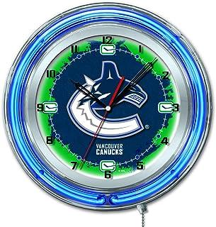 Amazon Com Sports Fan Wall Clocks Vancouver Canucks Wall Clocks Décor Sports Outdoors