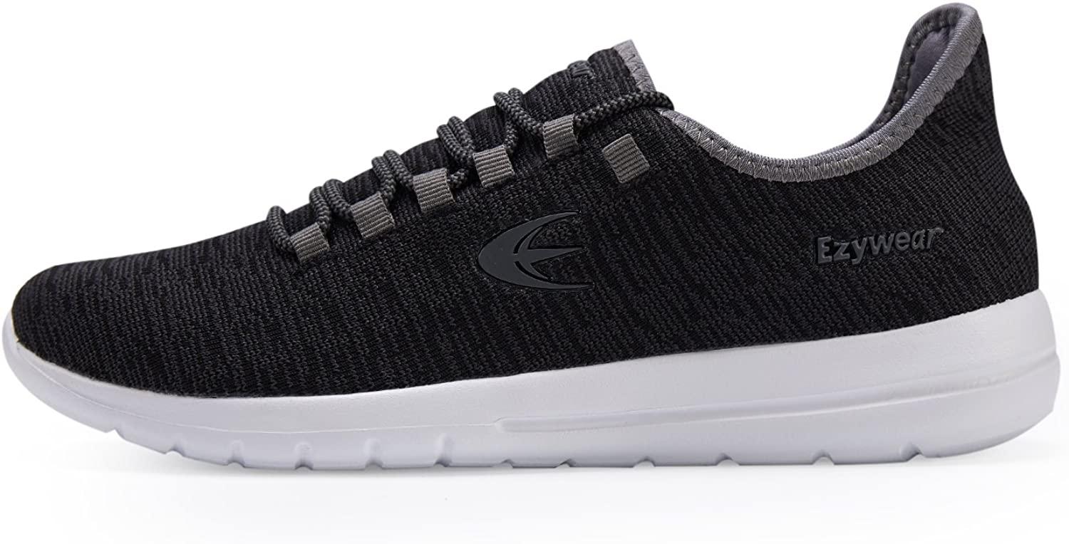 Men Athletic shoes Breathable Sneakers Running shoes Fashion Knit Casual shoes Navy