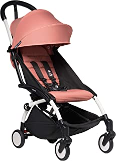 Babyzen YOYO2 Stroller - White Frame with Ginger Seat Cushion & Canopy