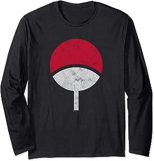 Naruto Sasuke Uchiha Symbol Distressed Long Sleeve T-Shirt