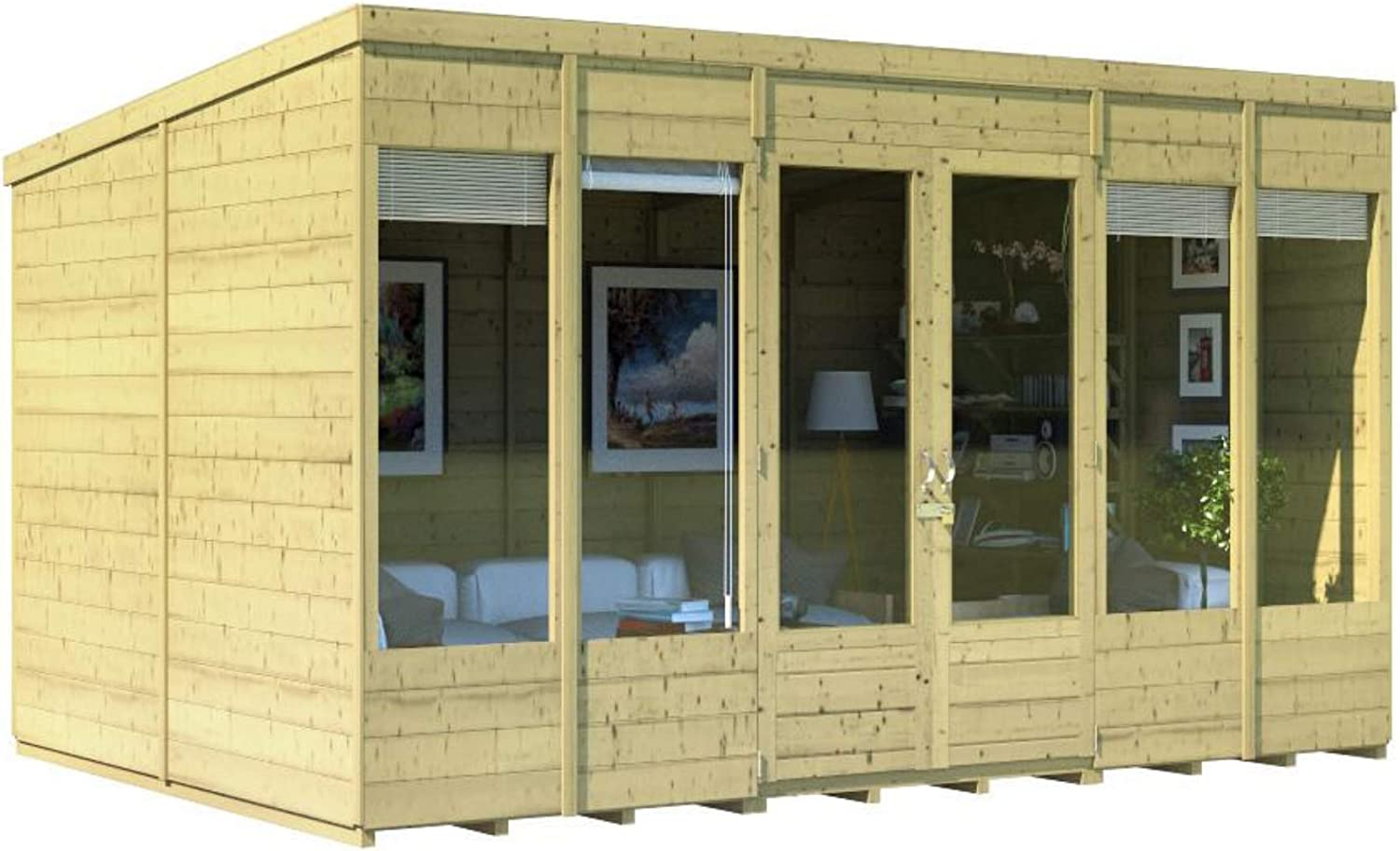 Pressure Treated Option Pressure Treated, 10x8 Range of Sizes BillyOh Bella Tongue and Groove Pent Summerhouse