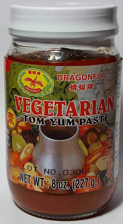 Vegetarian Tom Yum Paste Thai Soup Paste 8 oz Jar Dragonfly