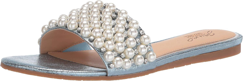 Jewel Badgley Mischka Women's Ornamented Sandal Slide