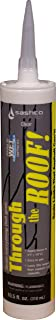 Sashco 14025-1 Through The Roof 10.5 oz Cartrdiges, Co-Polymer Rubber, Clear