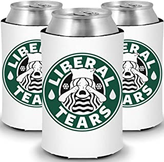 Funny MAGA Liberal Tears Can and Bottle Coolers (3 Pack)