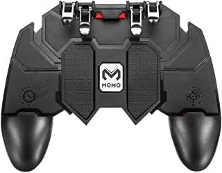 CQLEK® AK66 Portable Mobile Game Pad Controller with 6 Finger Triggers L1 R1 for PUBG/Fotnite Rules of Survival Mobile Con...