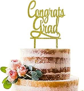 Gold Congrats Grad Cake Topper   Acrylic Graduation Cake Toppers 2019   Graduation Cake Decorations   Grad Party Decorations   Graduation Party Supplies