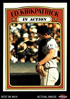 1972 Topps # 570 In Action Ed Kirkpatrick Kansas City Royals (Baseball Card) Dean's Cards 6 - EX/MT Royals