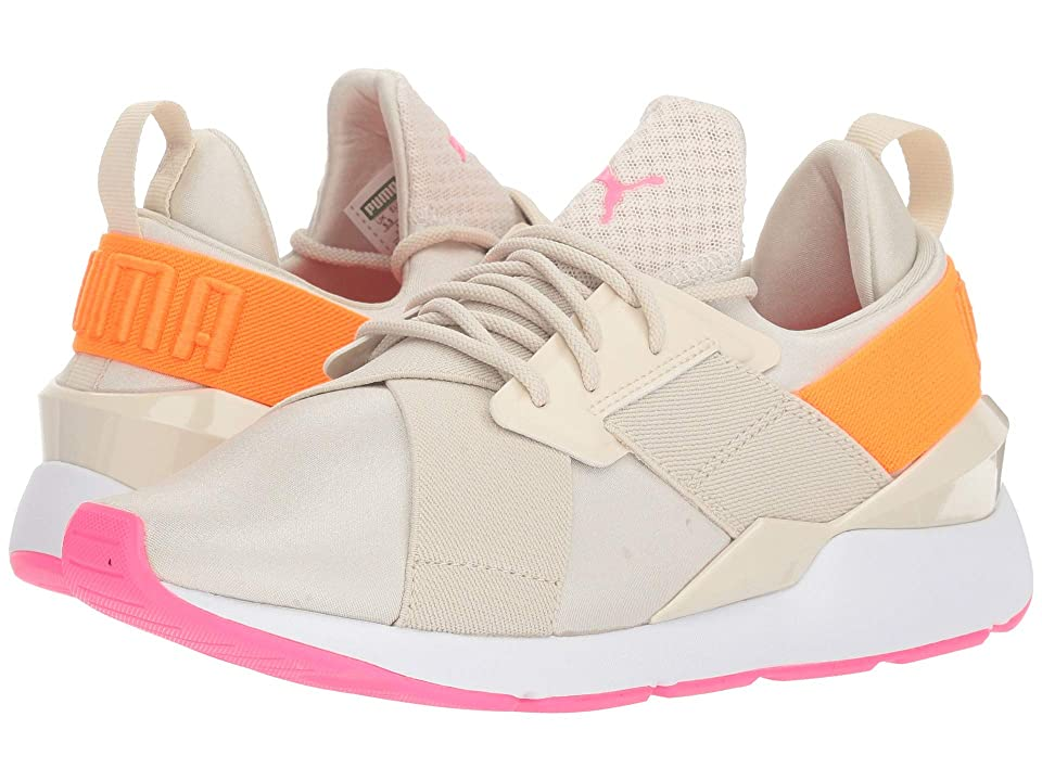 Puma Kids Muse Chase Jr (Big Kid) (Birch/Shocking Orange) Girls Shoes
