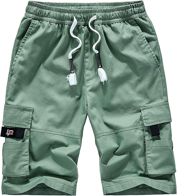 Men's Plus Size Cargo Shorts Stitching Pocket Street Fashion Trend All-Match Green