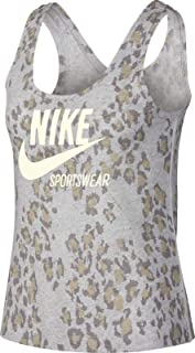 Nike Women's NSW Gym VNTG TALEOPARD Tank, Green(Atmosphere Grey/Sail/Sail059), X-Small