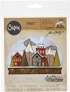 Sizzix 661603 Thinlits Die Set, Snowglobe by Tim Holtz (21-Pack)