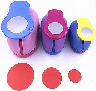 "TECH-P Set of 3PCS Circle (2""+1.5""+1"") Craft Punch Set Paper Punch Tool Eva Punches for Making Crafts Scrapbooking Garland..."